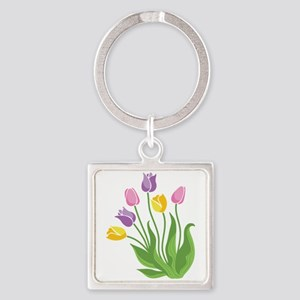 Tulips Plant Keychains