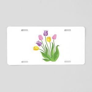 Tulips Plant Aluminum License Plate