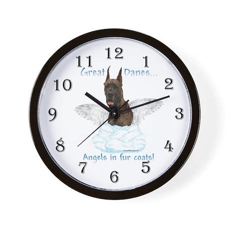Dane(brindle) Angel Wall Clock