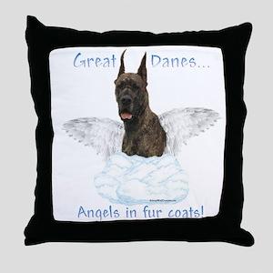 Dane(brindle) Angel Throw Pillow