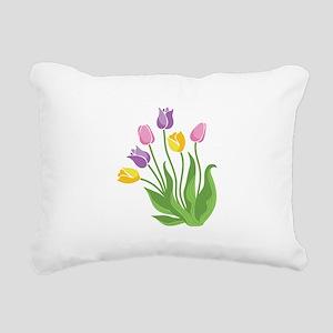 Tulips Plant Rectangular Canvas Pillow