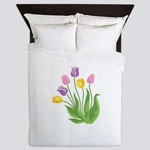 Tulips Plant Queen Duvet