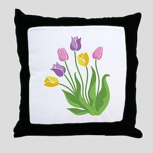 Tulips Plant Throw Pillow