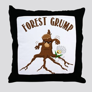 Forest Grump Throw Pillow