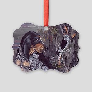 Bluetick Coonhound PD Picture Ornament