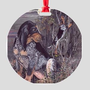 Bluetick Coonhound PD Round Ornament