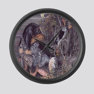 Bluetick Coonhound PD Large Wall Clock