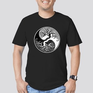White and Black Yin Yang Tree T-Shirt