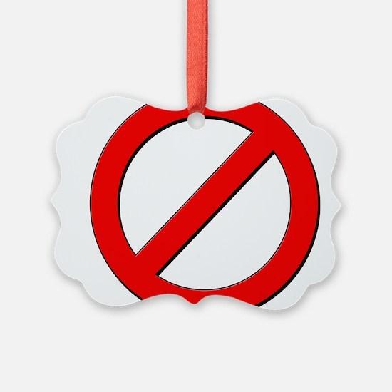 no sign Ornament