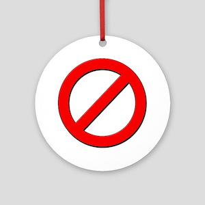 no sign Ornament (Round)