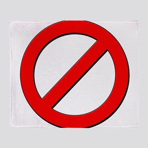 no sign Throw Blanket