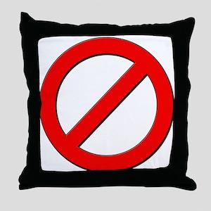 no sign Throw Pillow