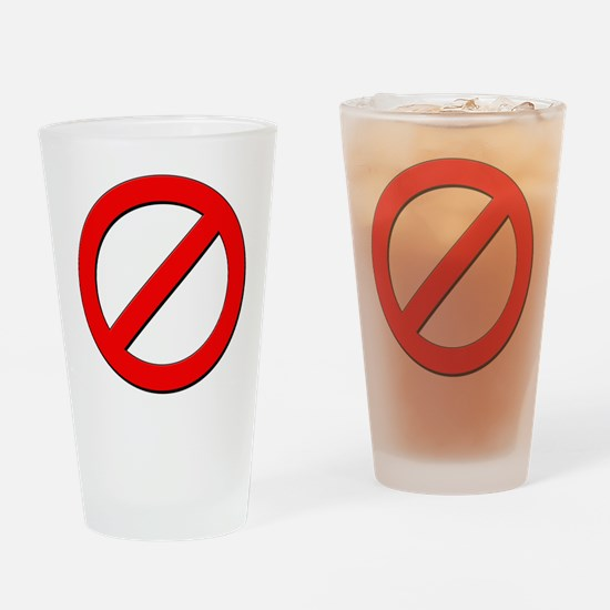 no sign Drinking Glass