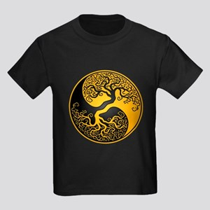 Yellow and Black Yin Yang Tree T-Shirt