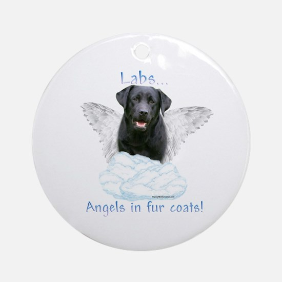 Lab(black) Angel Ornament (Round)