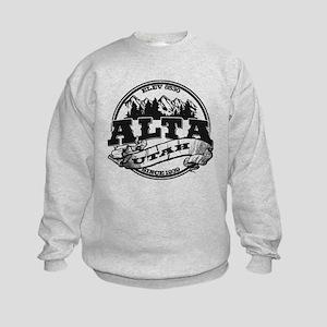 Alta Old Circle Black Kids Sweatshirt