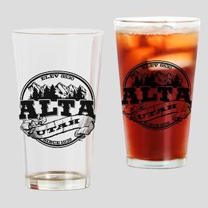 Alta Old Circle Black Drinking Glass