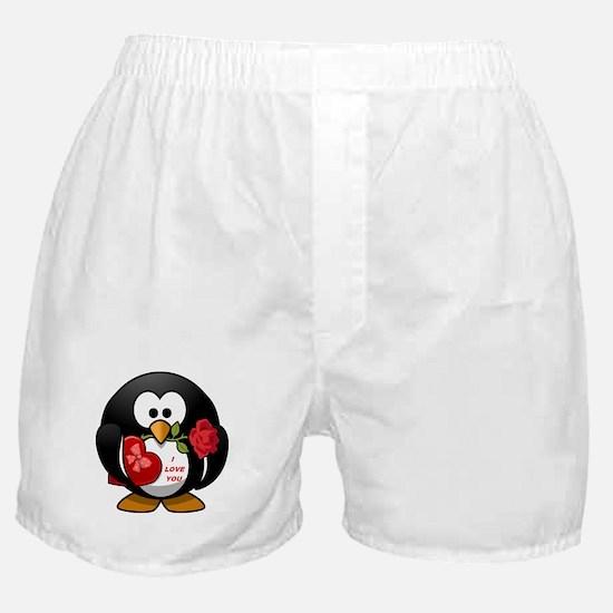 I LOVE YOU PENGUIN Boxer Shorts