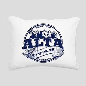 Alta Old Circle Blue Rectangular Canvas Pillow