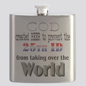 25th ID & Beer Flask