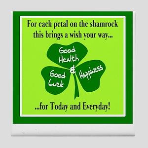 Each Petal On The Shamrock-Irish Toast Tile Coaste