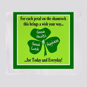 Each Petal On The Shamrock-Irish Toast Throw Blank