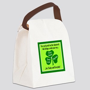 Each Petal On The Shamrock-Irish Toast Canvas Lunc