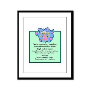 Libra-Zodiac Sign Framed Panel Print