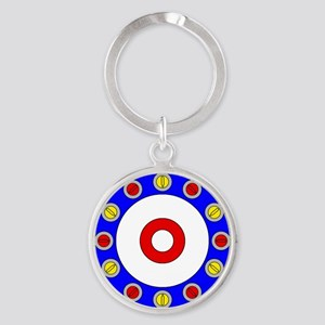 Curling Rocks Around the Clock Keychains