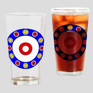 Curling Rocks Around the Clock Drinking Glass