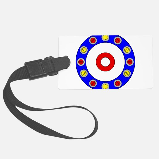 Curling Rocks Around the Clock Luggage Tag