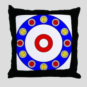 Curling Rocks Around the Clock Throw Pillow