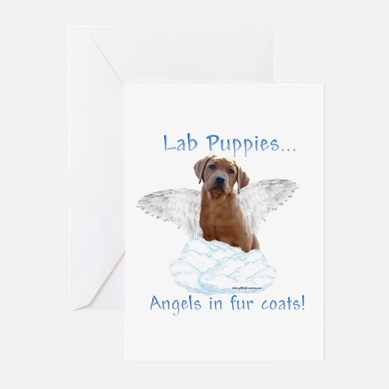 Lab Puppy Angel Greeting Cards (Pk of 10)