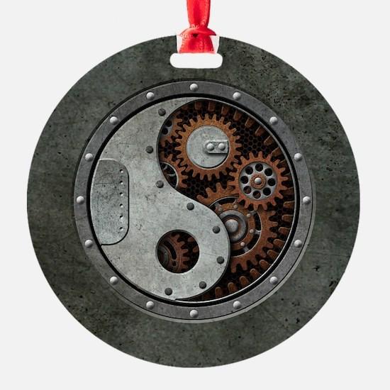 Steampunk Yin Yang Ornament
