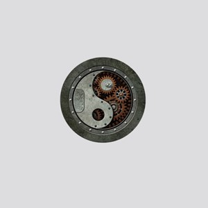 Steampunk Yin Yang Mini Button