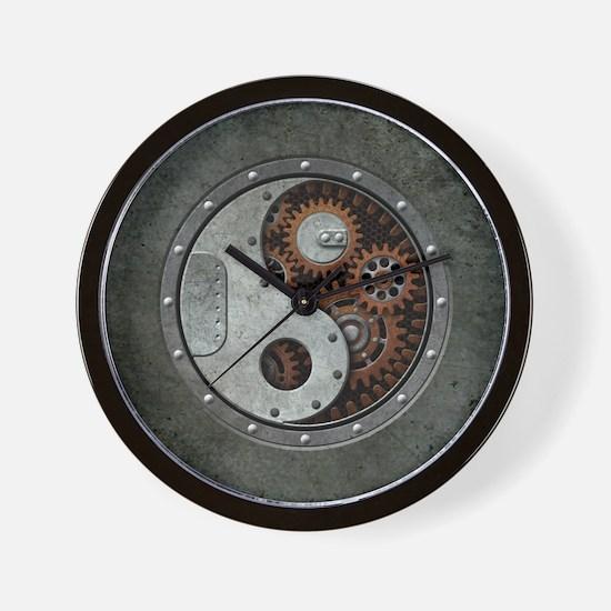 Steampunk Yin Yang Wall Clock