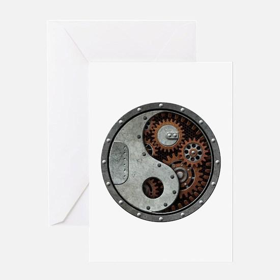 Steampunk Yin Yang Greeting Cards