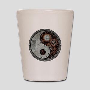 Steampunk Yin Yang Shot Glass