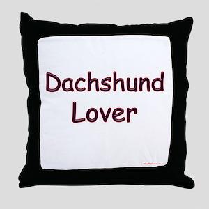 Dachshund Lover Throw Pillow
