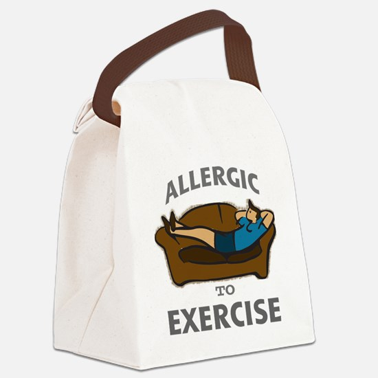 Allergic to Exercise-2 Canvas Lunch Bag