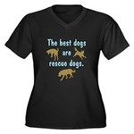 Best Dogs Are Rescue Dogs Women's Plus Size V-Neck
