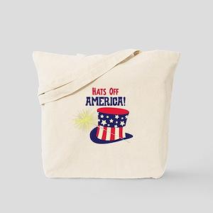 Hats Off AMERICA! Tote Bag