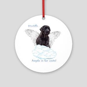 Mastiff(brindle) Angel Ornament (Round)