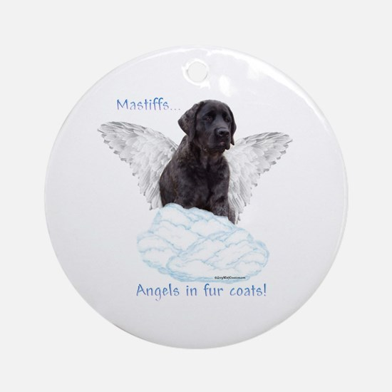 Mastiff(brindle) Angel Ornament (Round)