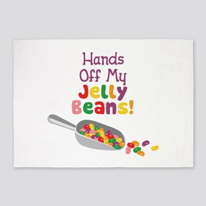 Hands Off My Jelly Beans! 5'x7'Area Rug