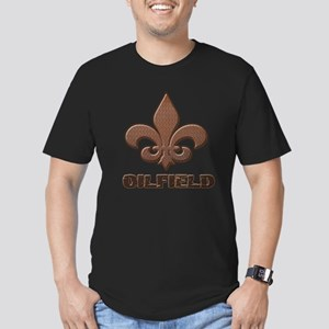Rusty Diamond Plate Fleur Des Lis Oilfield T-Shirt