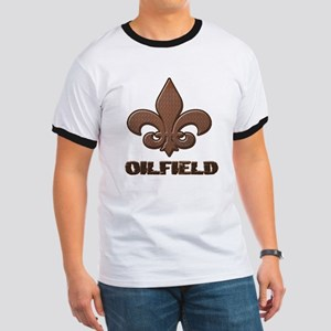 Rusty Diamond Plate Fleur Des Lis Oilfield T-Shirt