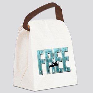 Free Tilly Sea Blue Canvas Lunch Bag