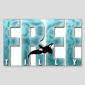 Free Tilly Sea Blue Sticker