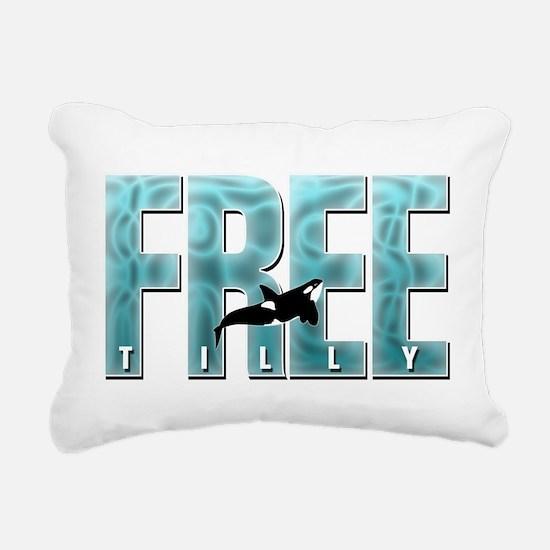 Free Tilly Sea Blue Rectangular Canvas Pillow